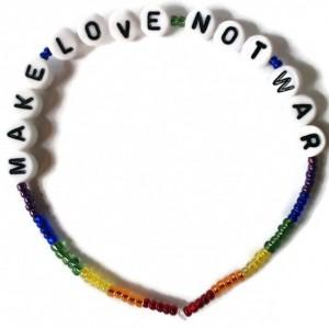 War Protest Slogans Bracelet Set - with optional peace charms