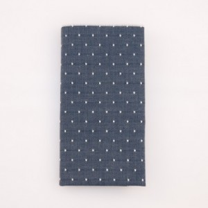 Pocket Square - Slate Blue/White Micro Dot