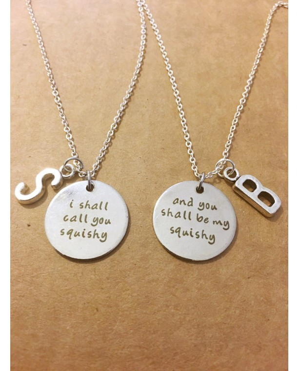 I shall call you squishy friendship necklaces