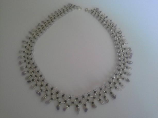 Amethyst Necklace Semi-Precious Gemstone