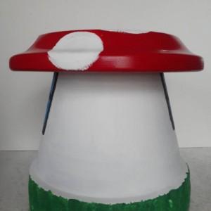 Gnome Sweet Gnome Toadstool/Gnome House Toadstool/Terracotta Mushroom/Garden Decor/Gnome/Toadstool/Mushroom/Garden