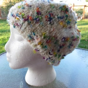 Slouch Beanie Beret Hat Hand Knitted with Mohai - COLUMBINE by Kat