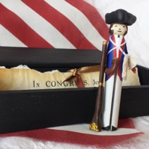 Handmade Mini American Revolution Soldier w/Accessories Gift Set