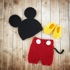 Mickey Mouse Inspired Costume/Mickey Mouse Hat/Mickey Costume/Baby Photo Prop-MADE TO ORDER