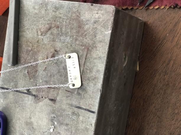 Deeper still sterling silver necklace