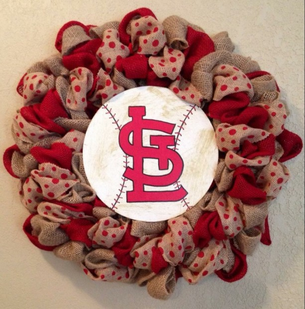 St. Louis Cardinals burlap wreath