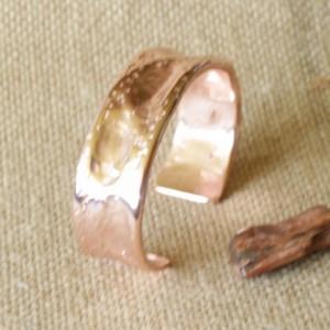Copper Textured Air Hammered Cuff