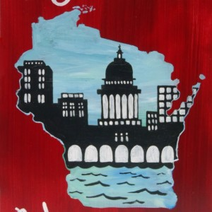 """Madison, Wisconsin 2"" original painting"