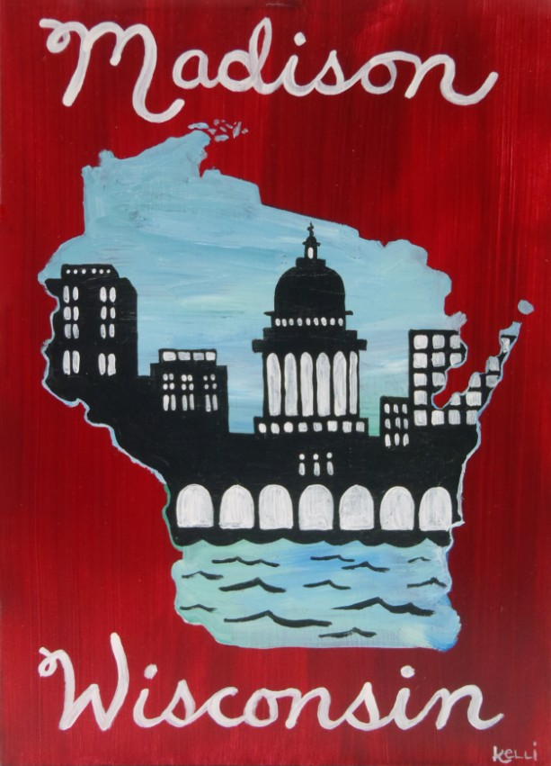 """Madison, Wisconsin 2"" original painting"
