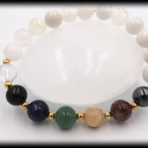 Moonstone Chakra Healing Bracelet for New Beginnings