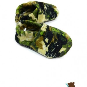 Camo Truck Ankle Booties- Camouflage booties- Camouflage Baby Shoes- Camouflage Toddler Shoes- Crib Shoes- Military Baby- Military Toddler