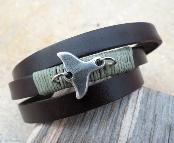 Men Bracelet - Men Leather Bracelet - Men Jewelry - Men Gift - Boyfriend Gift - Husband Gift - Present For Men - Gift For Dad - Male Jewelry