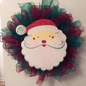 Santa Deco Mesh Wreath