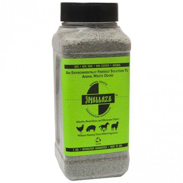 SMELLEZE Natural Chicken Coop Smell Deodorizing Granules: 2 lb. Stinky Coop Refresher That Works Safely