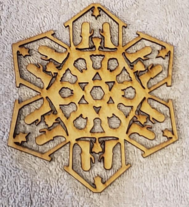 Nativity Scene Snowflake