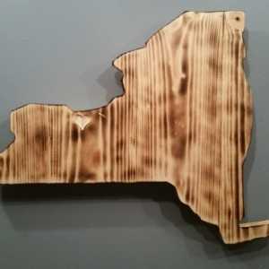 Rustic New York State Sign / add an engraved heart to your location