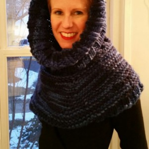 Custom Made Hooded Shawl, Knitted Snood