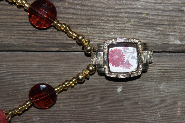 OOAK necklace with upcycled watch face
