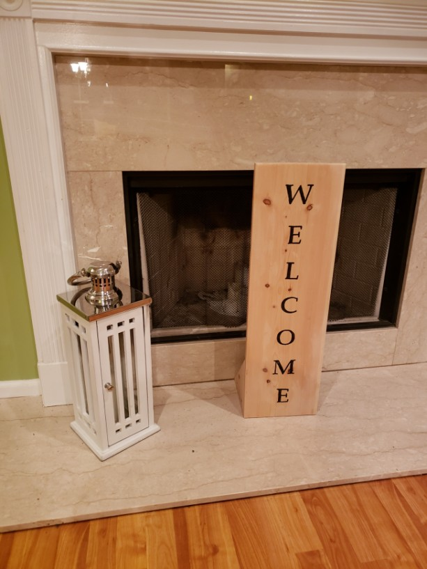 Custom Stand Up Welcome Sign
