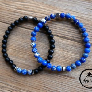 Men's Bracelet Set - Men's Beaded Bracelet - Men's Cuff Bracelet - Men's Jewelry - Men's Gift - Husband Gift - Present For Men - Boyfriend
