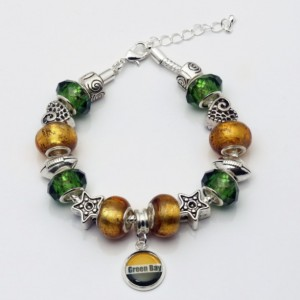 Green Bay, Green Bay Jewelry, Beaded Jewelry, Green Bay Bracelet