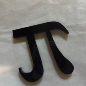 Pi charms, math charms, laser cut charms, Greek letters,