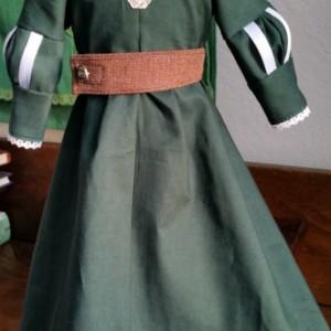 "Merida Brave Inspired Scottish Princess Dress for 18"" Doll"