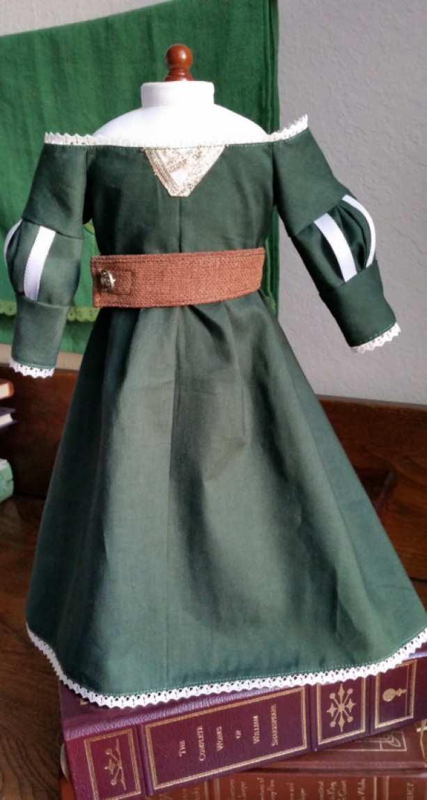 "Merida Brave Inspired Scottish Princess Dress for 18"" Doll"