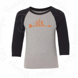 Birthday Arrow Raglan Tee
