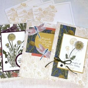 Dandelion Greeting Cards Stampin' Up! Set of 3