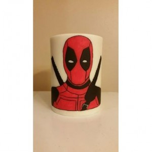 "4x6 ""Deadpool"" Pillar Candle"