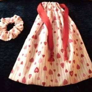 Handmade 3 Pc. Valentine's Day Gift Set For Her, Handmade Pillows, Valentine's Gift  Bags, Heart Design, Valentine's Day Gifts, Scrunchie