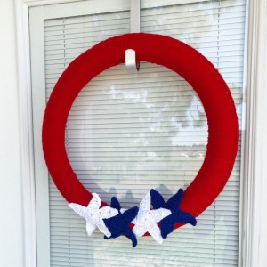 Crochet wreath | minimalist decor | Independence day wreath | seasonal | 4th of july