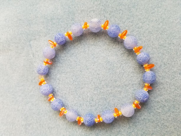 tangerine and blue bracelet