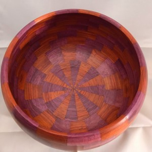 Wooden Turned Bowl Purpleheart and Padauk