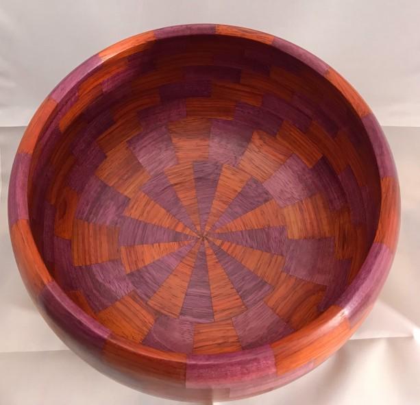 Wooden Turned Bowl Purpleheart and Padauk