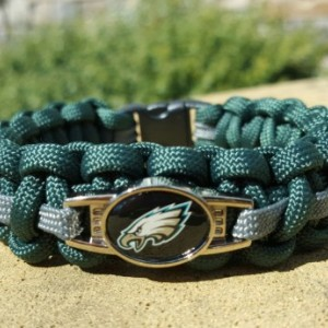 Philadelphia Eagles Paracord Bracelet NFL Officially Licensed Charm