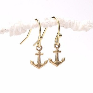 Stability Earrings, Tiny Anchor Earrings, Anchor Earrings