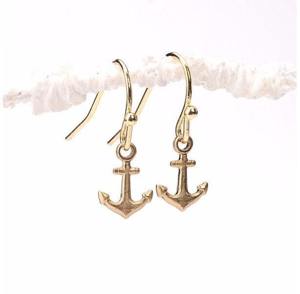 Stability Earrings, Tiny Anchor Earrings, Anchor Earrings