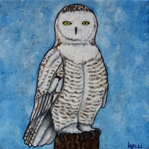 """Snowy Owl 2"" original painting"