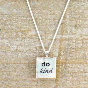 Do Kind Inspirational Message Charm Necklace