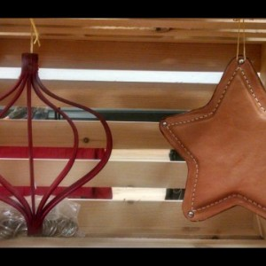Living Simply with this handmade leather star!