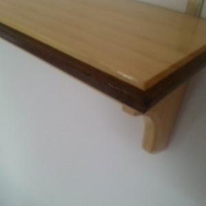 Shelf made of pine and black walnut