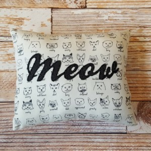 The Cat's Meow Throw Pillow