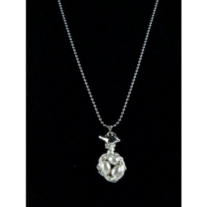 Mama Bird Nest with Light Beige Pearl Egg Pendant Necklace