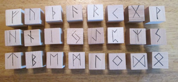 Elder Futhark Rune Alphabet 24 Rubber Stamps Mounted scandinavian made in USA