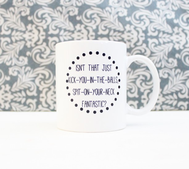 Kick You in the Balls, Spit on Your Neck Fantastic - Friends Coffee cup, mug, pencil holder, catch-all - Ready to Ship