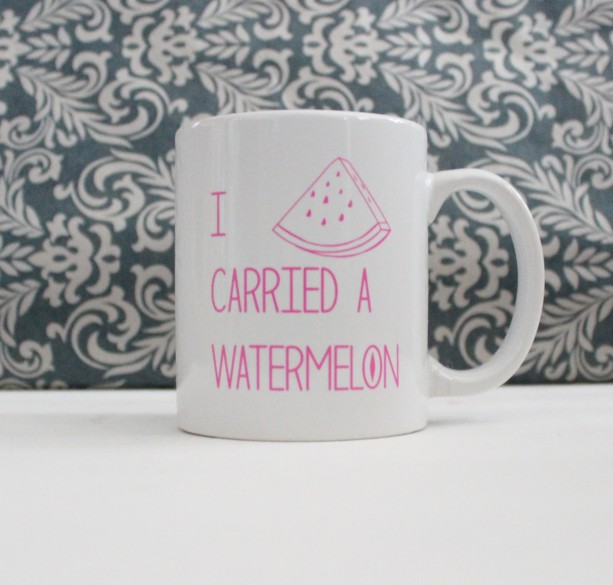 I Carried A Watermelon - Dirty Dancing Movie Pop Culture - coffee cup, mug, pencil holder, catch-all - Ready to Ship