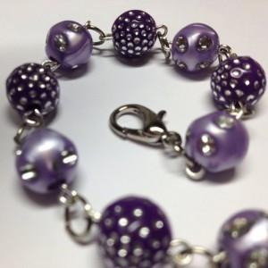 Plum Sparkle Bracelet