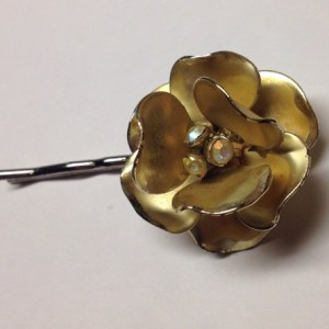 Gold Flower Hair Pin